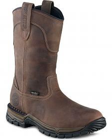 Red Wing Irish Setter Two Harbors Waterproof Pull-On Work Boots - Round Toe