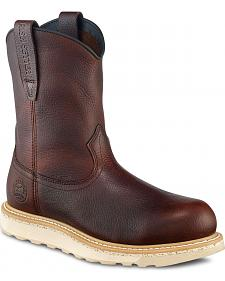 Red Wing Irish Setter Ashby Wedge Pull-On Work Boots - Round Toe