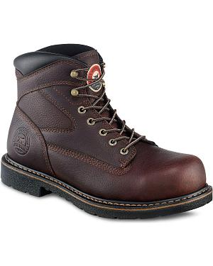 "Irish Setter by Red Wing Farmington King Toe 6"" Lace-Up Work Boots - Steel Toe"
