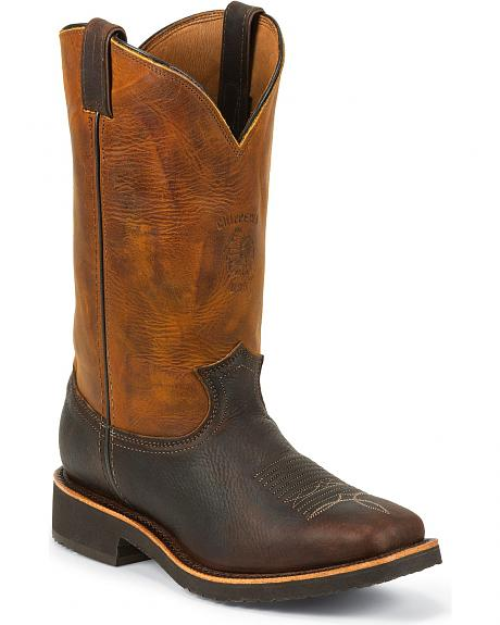Chippewa Crazy Horse Pitstop Work Boots - Square Toe