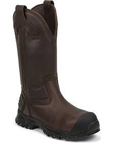 Justin Work Tek Waterproof Pull-On Work Boots - Composition Toe