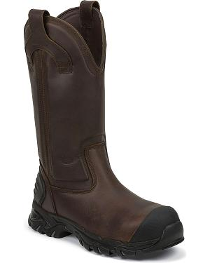 Justin Work Tek Waterproof Pull-On Work Boots - Composition Toe
