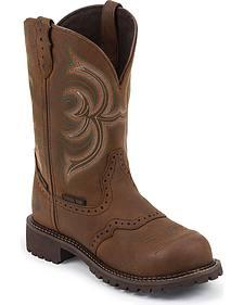 Justin Gypsy Waterproof Pull-On Work Boots - Steel Toe