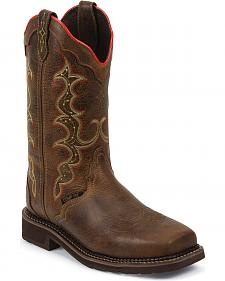 Justin Women's Stampede Pull-On Work Boots - Composition Toe