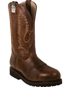 Boulet Pull-On Vibram Kevlar Work Boots - Steel Toe