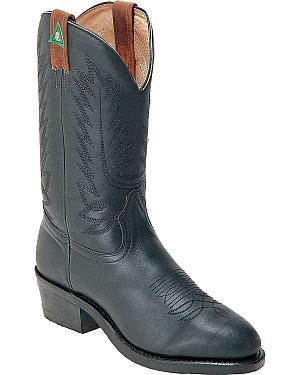Boulet Western Pull-On Work Boots - Steel Toe
