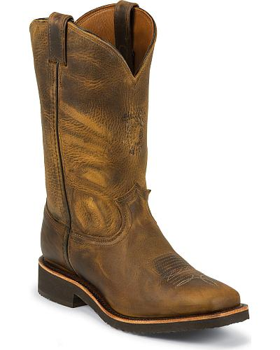 Chippewa Crazyhorse Pull-On Work Boots Square Toe Western & Country 29324