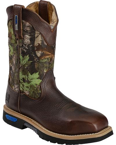 Cinch Mens WRX Commander Waterproof Slip Resistant Work Boots Western & Country WXM105SW