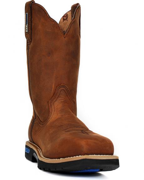 Cinch Brown H2O Waterproof Work Boots - Safety Toe