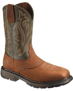Wolverine Javeline Pull-On Work Boots - Steel Toe