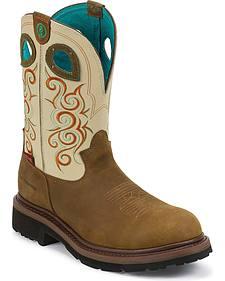 Tony Lama 3R Work Boots - Round Toe
