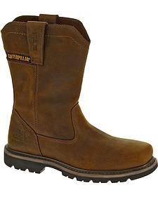 Caterpillar Wellston Pull-On Work Boots - Steel Toe
