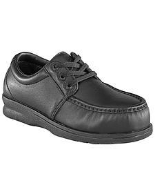 Florsheim Men's Black Pucker Oxford Work Shoes - Steel Toe