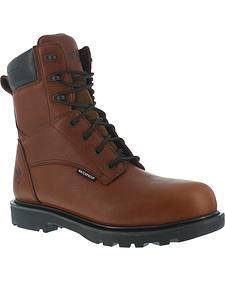 """Iron Age Men's Hauler Composite Toe Waterproof 8"""" Work Boots"""