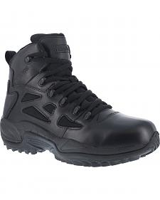 "Reebok Men's Stealth 6"" Lace-Up Water Resistant Side Zip Work Boots"