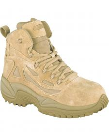 "Reebok Men's Stealth 6"" Lace-Up with Side-Zip Tactical Work Boots - Composite Toe"