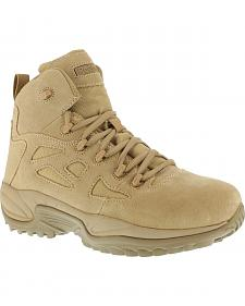 "Reebok Men's Stealth 6"" Lace-Up Side Zip Work Boots"