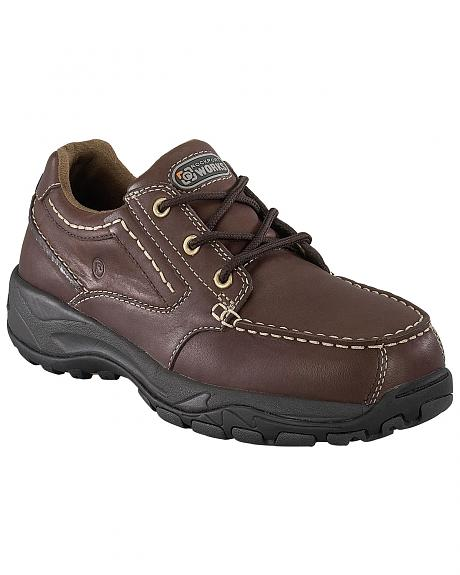 Rockport Works Extreme Light Casual 3-Eye Oxford Work Shoes - Composition Toe