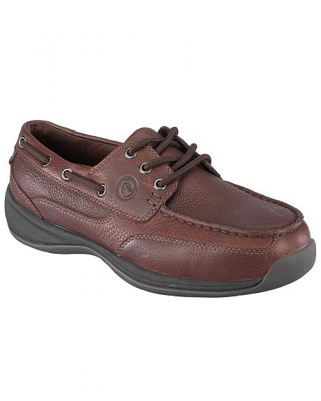 Rockport Works Sailing Club Canoe Oxford Work Shoes - Steel Toe