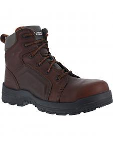 "Rockport Men's More Energy Brown 6"" Lace-Up Work Boots - Composition Toe"