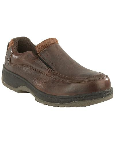 Florsheim Mens Lucky Steel Toe Slip-On Shoes Western & Country FS2405