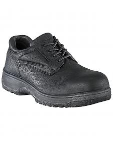 Florsheim Men's Fiesta Composite Toe Black Lace-Up Oxford Shoes