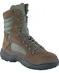 "Reebok Women's 8"" Lace-Up Side Zip Tactical Work Boots - Steel Toe"