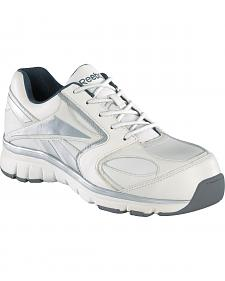 Reebok Women's Senexis White Athletic Oxford Work Shoes - Composition Toe