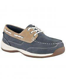 Rockport Works Women's Sailing Club Boat Shoes - Steel Toe