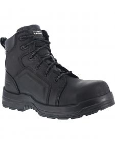 "Rockport Works More Energy Waterproof 6"" Lace-Up Work Boots - Composition Toe"