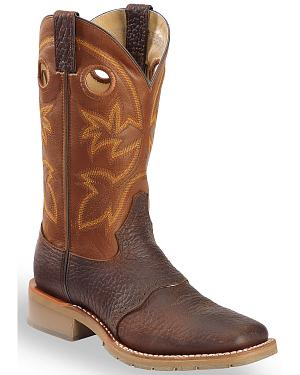Double H Canyon Rust Saddle Vamp Western Work Boots - Square Toe