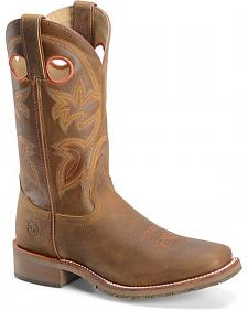 Double H Canyon Rust Double Welt Western Work Boots - Square Toe