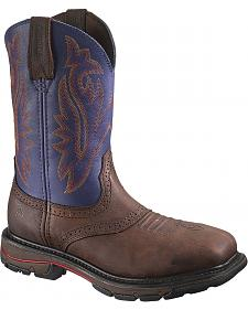 Wolverine Javelina High Plains Western Pull-On Work Boots - Steel Toe