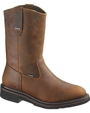 Wolverine Brek Waterproof Wellington Work Boots - Steel Toe