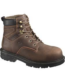 """Wolverine Nolan 6"""" Waterproof Work Boots - Composite Toe"""
