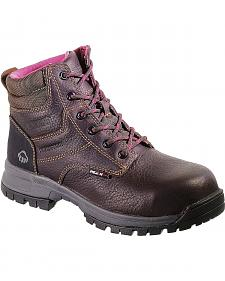 "Wolverine Piper Ladies 6"" Waterproof Work Boots - Composite Toe"