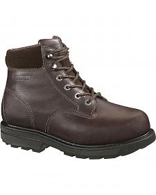 "Wolverine Cannonsburg 6"" Work Boots - Steel Toe"