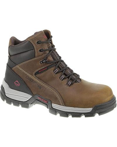 "Wolverine Tarmac 6"" Waterproof Reflective Work Boots Composite Toe Western & Country W10305"