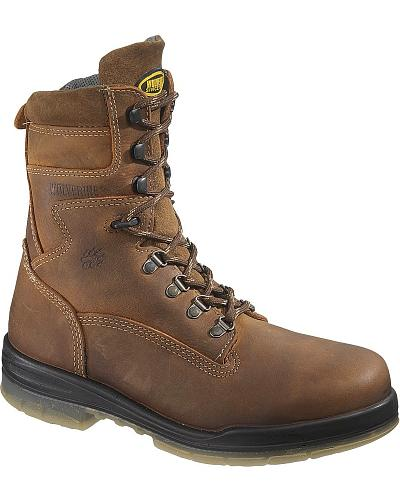 "Wolverine Durashocks 8"" Waterproof Insulated Work Boots Steel Toe Western & Country W03295"