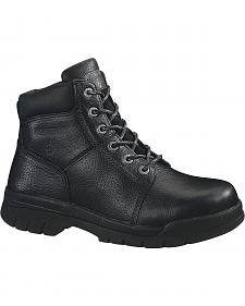 "Wolverine Marquette 6"" Slip-Resistant Work Boots - Steel Toe"