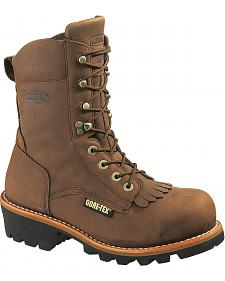 "Wolverine Chesapeake 8"" Waterproof Logger Work Boots - Steel Toe"