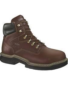 "Wolverine Darco 6"" Work Boots - Steel Toe"