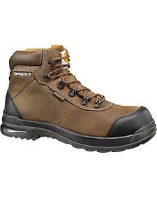 """Carhartt 6"""" Composite Toe Stomp Light Bal Waterproof Work Boots"""