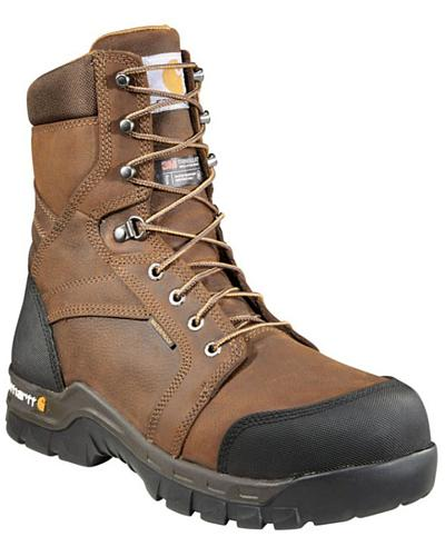 """Carhartt 8"""" Composite Toe Rugged Flex Waterproof Insulated Work Boots Western & Country CMF8389"""