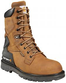 "Carhartt Men's 8"" Bison Waterproof Work Boots - Safety Toe"