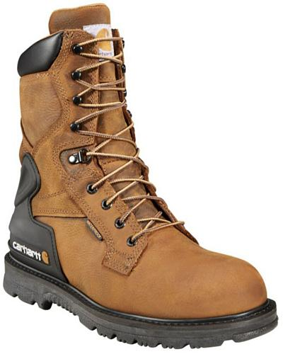 "Carhartt 8"" Bison Waterproof Work Boots Western & Country CMW8100"