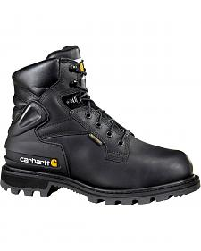 "Carhartt 6"" Black Work Boots - Safety Toe"
