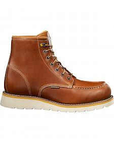 "Carhartt 6"" Tan Wedge Boots - Safety Toe"