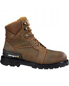 "Carhartt 6"" Lace-Up Work Boots - Safety Toe"