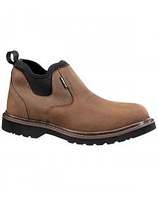 "Carhartt 4"" Brown Weatherproof Romeo Work Shoes"
